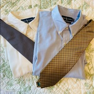 Ralph Lauren Bundle of 2 shirts and two RL ties